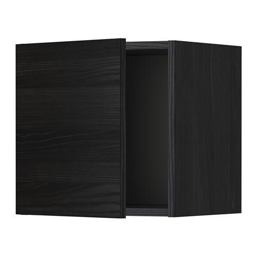 МЕТОД Шкаф навесной - 40x40 см, Тингсрид под дерево черный, под дерево черный