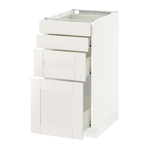 METODE / FORVARA Benkeskap frontpanelet 4 / 4 skuff - hvit, hvit Sevedal, 40x60 cm