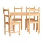 ИНГУ/ИВАР Стол и 4 стула