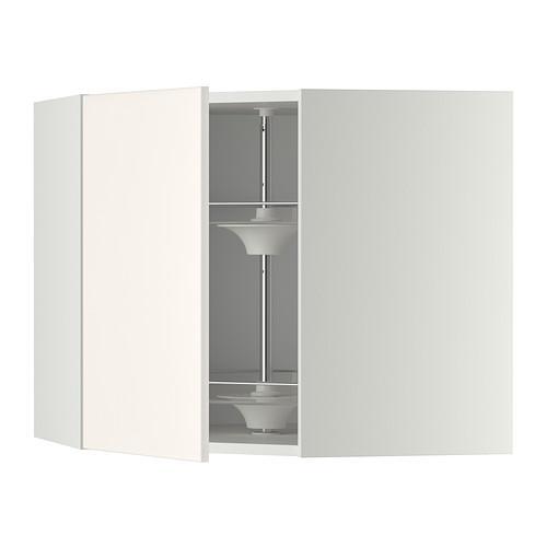 МЕТОД Угл нвсн шкф с вращающ секц - 68x60 см, Веддинге белый, белый