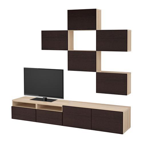 Zwart Bruine Tv Kast.Besto Tv Meubel Combinatie Onder Gebleekte Eik Inviquen Zwart