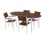 ВИНДАЛЬШЁ Стол+4 стула с подлокотниками