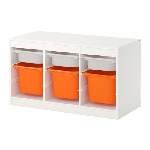Trofast Combination D Storage White Orange Containers 99x44x56 Cm