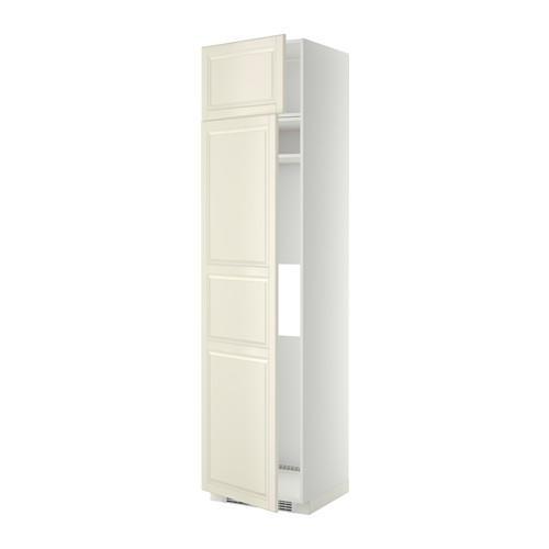 МЕТОД Выс шкаф д/холодильн или морозильн - 60x60x240 см, Будбин белый с оттенком, белый