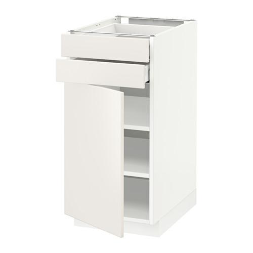 МЕТОД / МАКСИМЕРА Напольный шкаф с дверцей/2 ящиками - 40x60 см, Веддинге белый, белый