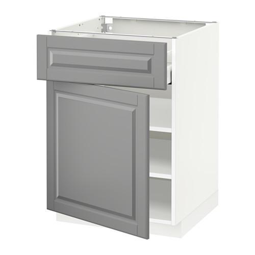 МЕТОД / МАКСИМЕРА Напольный шкаф с ящиком/дверью - 60x60 см, Будбин серый, белый