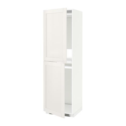 МЕТОД Высок шкаф д холодильн/мороз - белый, Сэведаль белый, 60x60x200 см