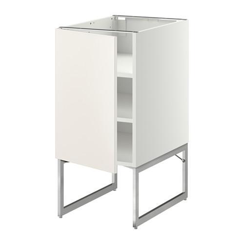 МЕТОД Напольный шкаф с полками - 40x60x60 см, Веддинге белый, белый