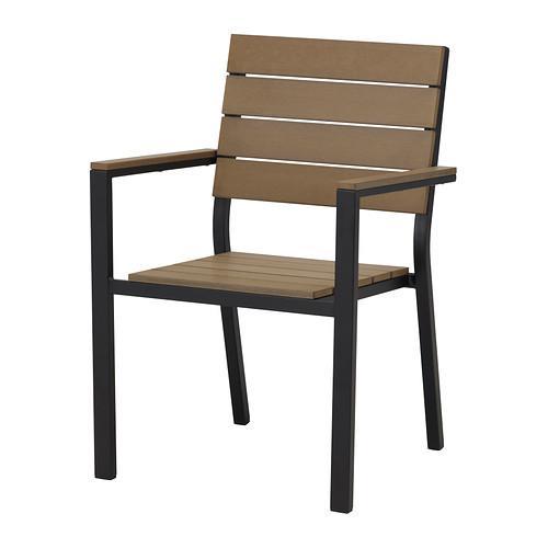 ФАЛЬСТЕР Легкое кресло - черный/коричневый