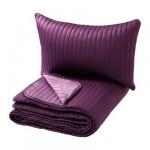 КАРИТ Покрывало и чехол на подушку - сиреневый, 180x280/40x60 см