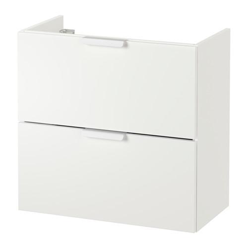 GODMORGON Waschbecken Schrank mit 2 Kiste - weiß, 60x30x58 sehen