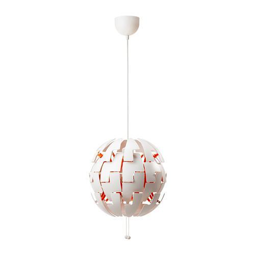 ИКЕА ПС 2014 Подвесной светильник - белый/оранжевый