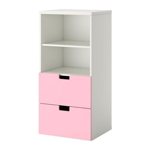 СТУВА Комбинация д/хранения - белый/розовый