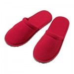 NEWTES自制拖鞋 - 深红色,L / XL