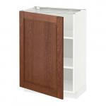 МЕТОД Напольный шкаф с полками - 60x37 см, Филипстад коричневый, белый