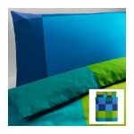 БРУНКРИСЛА Пододеяльник и 2 наволочки - синий, 200x200/50x70 см