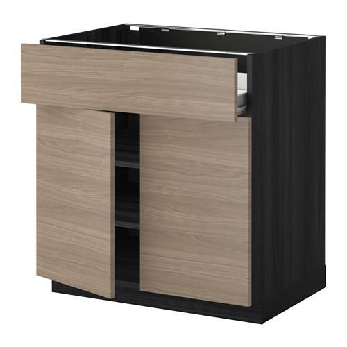 methode forvara napoli schrank regale schublade 2dveri holz schwarz brokhult nussbaum. Black Bedroom Furniture Sets. Home Design Ideas
