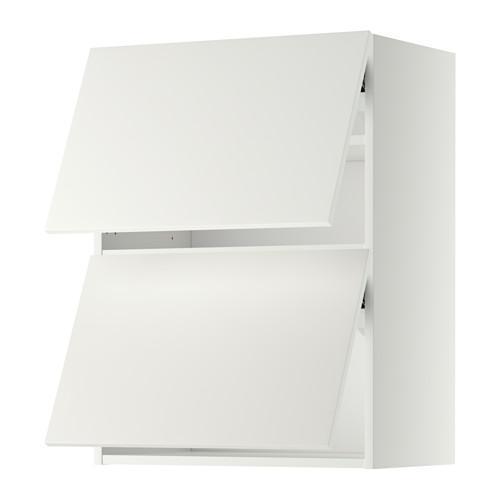 МЕТОД Навесной шкаф/2 дверцы, горизонтал - 60x80 см, Хэггеби белый, белый