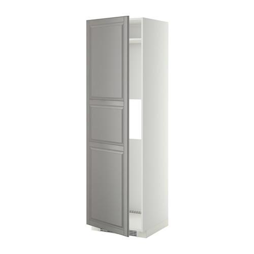 МЕТОД Выс шкаф д/холод или мороз, с дверц - Будбин серый, белый