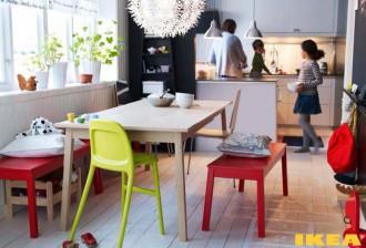 Интерьер столовой комнаты ИКЕА