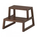 MOLGER stool-ladder - dark brown, 41x44x35 see