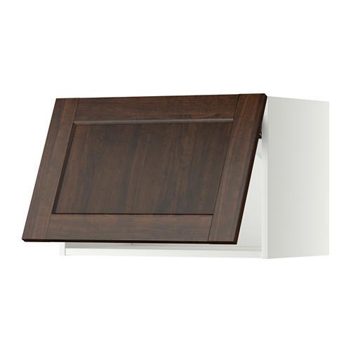 МЕТОД Горизонтальный навесной шкаф - 60x40 см, Эдсерум под дерево коричневый, белый