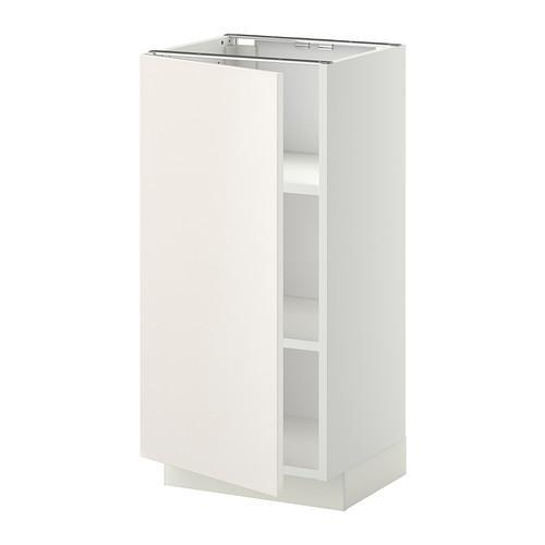 МЕТОД Напольный шкаф с полками - 40x37 см, Веддинге белый, белый