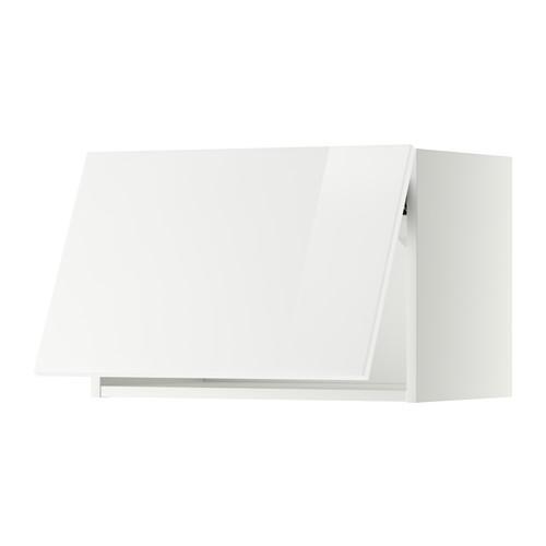 МЕТОД Горизонтальный навесной шкаф - 60x40 см, Рингульт глянцевый белый, белый