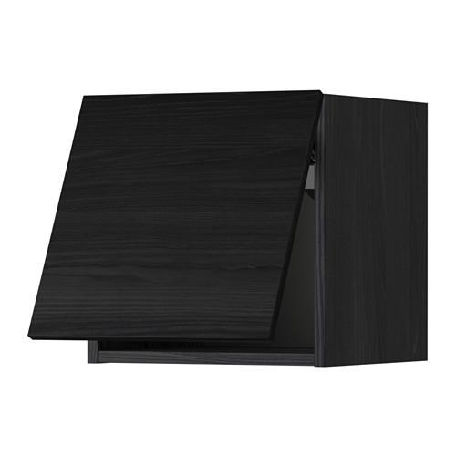 МЕТОД Горизонтальный навесной шкаф - 40x40 см, Тингсрид под дерево черный, под дерево черный