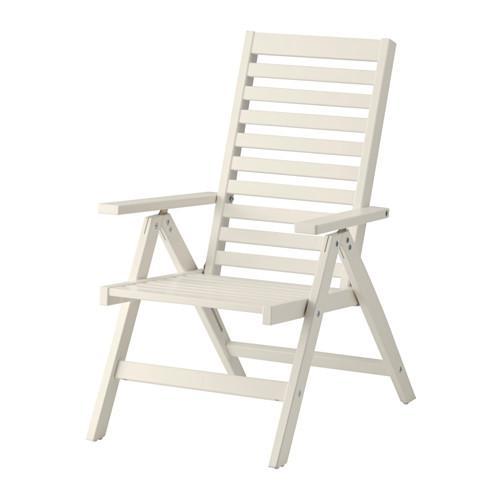 ЭПЛАРО Садовое кресло/регулируемая спинка - складной белый