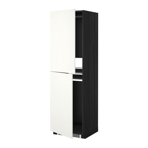 МЕТОД Высок шкаф д холодильн/мороз - 60x60x200 см, Хэггеби белый, под дерево черный