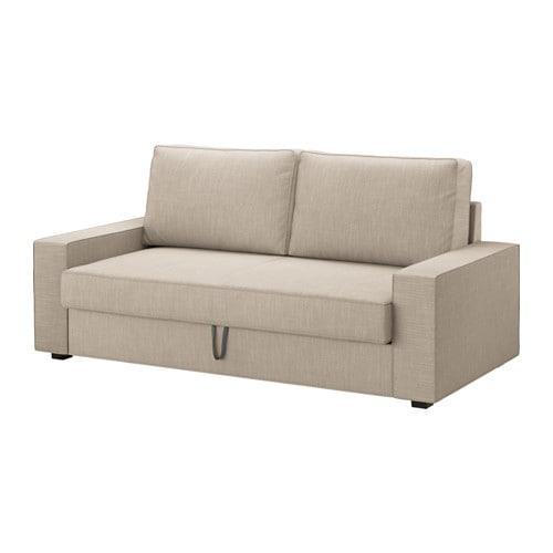 VILASUND 3-seat sofa-bed - Hillared beige (692.824.98 ...