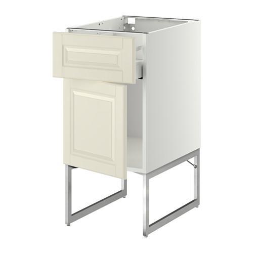 МЕТОД / МАКСИМЕРА Напольный шкаф с ящиком/дверью - 40x60x60 см, Будбин белый с оттенком, белый