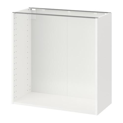 МЕТОД Каркас напольного шкафа - белый, 80x37x80 см