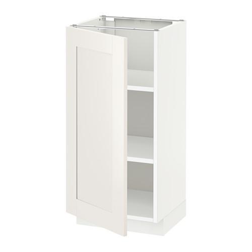 МЕТОД Напольный шкаф с полками - 40x37 см, Сэведаль белый, белый