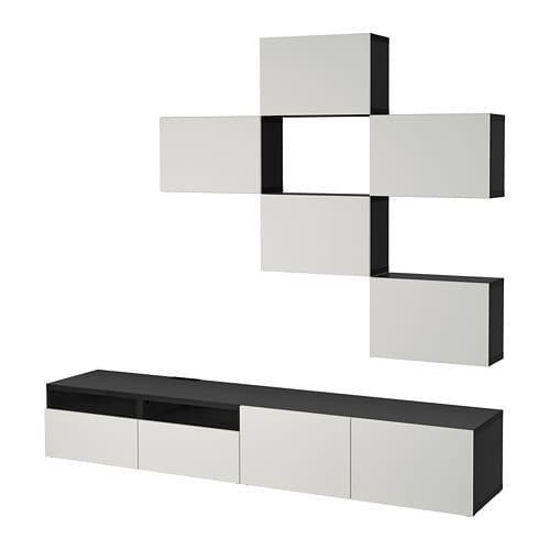 Ikea Tv Meubel Combinatie.Besto Tv Kast Combinatie Zwartbruin Lappviken Lichtgrijs