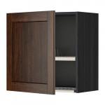 МЕТОД Шкаф навесной с сушкой - 60x60 см, Эдсерум под дерево коричневый, под дерево черный