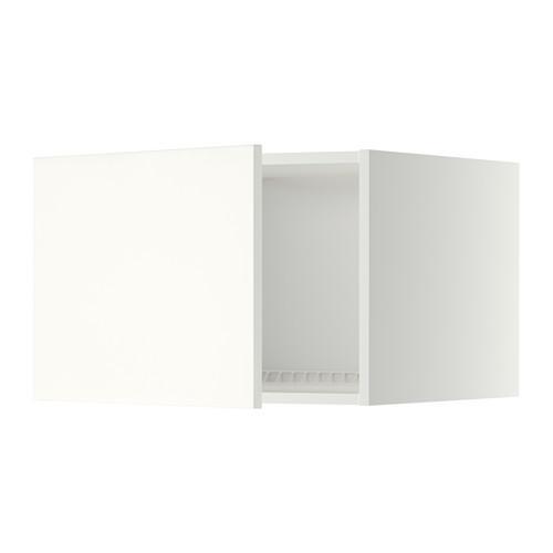 МЕТОД Верх шкаф на холодильн/морозильн - 60x40 см, Хэггеби белый, белый