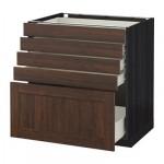 MÉTODO / gabinete FORVARA Base con cajones 5 - 80x60 cm Edserum madera madera marrón negro