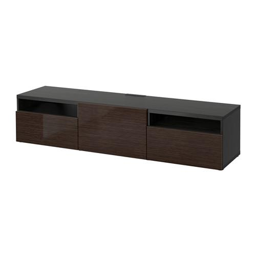 best tumba unter tv schwarz braun selsviken gl nzend braun schubladenf hrungen. Black Bedroom Furniture Sets. Home Design Ideas