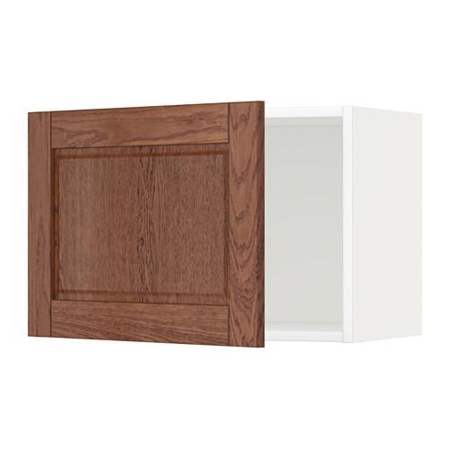 МЕТОД Шкаф навесной - 60x40 см, Филипстад коричневый, белый