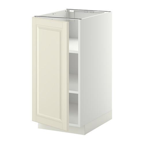МЕТОД Напольный шкаф с полками - 40x60 см, Будбин белый с оттенком, белый