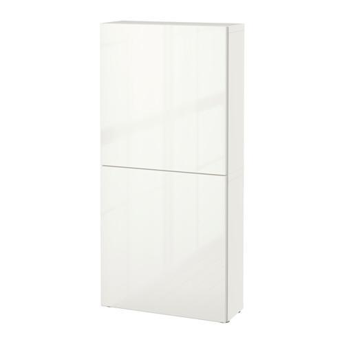 БЕСТО Навесной шкаф с 2 дверями - белый/Сельсвикен глянцевый/белый