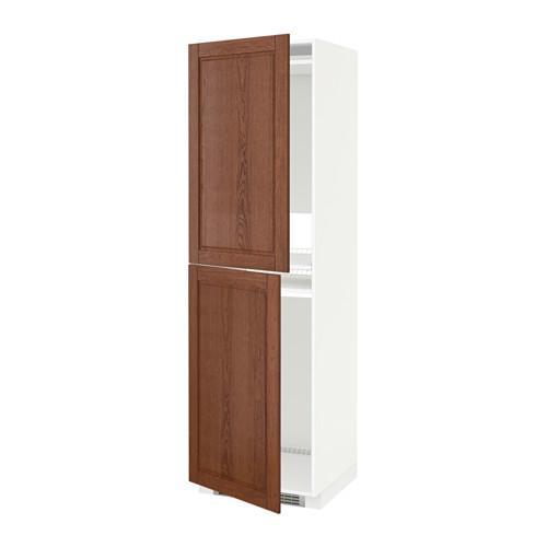 МЕТОД Высок шкаф д холодильн/мороз - 60x60x200 см, Филипстад коричневый, белый