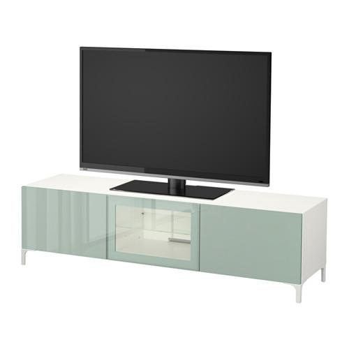 best der tv st nder mit schubladen und t r wei. Black Bedroom Furniture Sets. Home Design Ideas