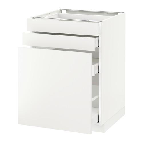 МЕТОД / МАКСИМЕРА Нплн шк с вдв мдл/2 фрнт - 60x60 см, Хэггеби белый, белый