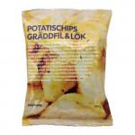 POTATISCHIPS GRÄDDFIL & LÖK Chips mit Sauerrahm