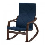 Poeng rocking chair - Edum dark blue, brown
