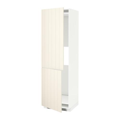 МЕТОД Выс шкаф д/холодильн или морозильн - 60x60x200 см, Хитарп белый с оттенком, белый