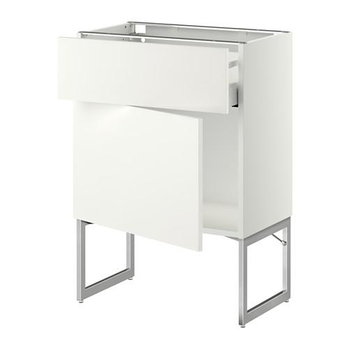 МЕТОД / МАКСИМЕРА Напольный шкаф с ящиком/дверью - 60x37x60 см, Хэггеби белый, белый